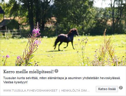 FB mainos - Tuusulan hevoskylä